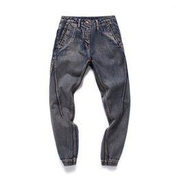 China Fashion 2018 Spring Korean Concise Personality Male Streetwear Casual Haren Baggy Hip Hop Jeans Men Bound Feet Pants Size M-4XL supplier korean baggy pants men suppliers