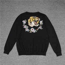 $enCountryForm.capitalKeyWord NZ - Top quality Italy Luxury Sweaters tiger Embroidery High street fashion clothing black MW252