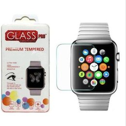 Apple Watch Lcd NZ - For Apple Watch iwatch 0.26mm 2.5D 9H Tempered Glass Flim Screen Protector LCD With Retal package