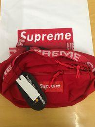 Messenger bag belt online shopping - 18SS Waist Bag M th Sup Unisex Fanny Pack Fashion Waist Men Canvas Hip Hop Belt Bag Men Messenger Bags AW Small Shoulder Bag