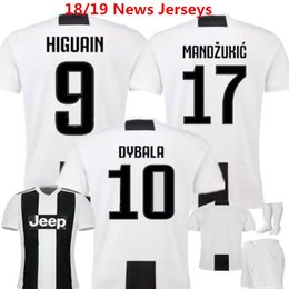 19d22af94 Soccer Jerseys Dybala Football Shirts Juventusing 18 19 Home Uniforms  Higuain Mandzukic D.costa Marchisio Juv Kids vestiti di calcio Buffon