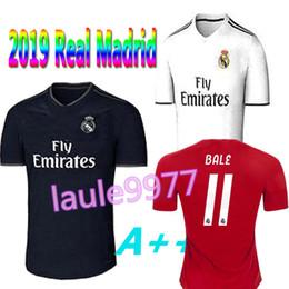 af2a85fb4 Top thai jersey 2018 2019 Real madrid home away soccer Jerseys 18 19 HAZARD  ASENSIO BALE RAMOS ISCO MODRIC football shirt Thailand Quality