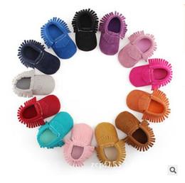Discount soft black shoes - Prewalker Shoe First Walkers Newborn Shoes Tassel Girl Boy Toddlers Baby Moccasin Soft Crib Shoes Anti-slip Footwear Fre