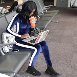 $enCountryForm.capitalKeyWord Australia - PENERAN 2 Piece Sports Wear Women Tracksuit Warm Velvet Fitness Jogging Suit Female Long Sleeve Running Gym Yoga Clothes Blue S