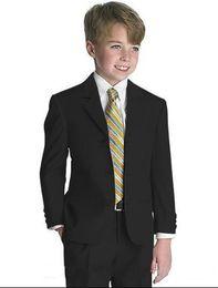 $enCountryForm.capitalKeyWord NZ - New Arrivals Three Buttons Black Notch Lapel Boy's Formal Wear Occasion Kids Tuxedos Wedding Party Suits (Jacket+Pants+Tie) 617