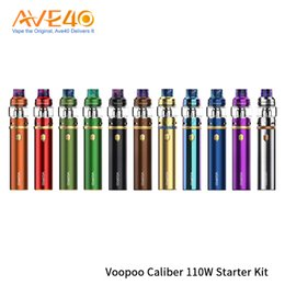 Kanger Tank Starter Kits Australia - Original Voopoo Caliber 110W Starter Kit With UFORCE Sub Ohm Tank 5ml Built-in 23600 Battery Vape Vs Kanger Top Evod