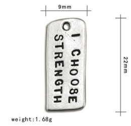 $enCountryForm.capitalKeyWord Australia - Tibetan Silver Plated Alphabet I Choose Strength Charms Jewelry For Making