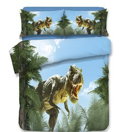 $enCountryForm.capitalKeyWord NZ - 3D Bedding Set 4pcs Cartoon Dinosaur Duvet Covers Pillowcases Fashion Style Queen King Size Printed Polyester Animal Bedclothes Triceratops