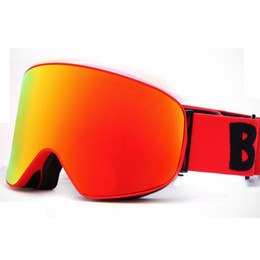 34aa2d85530 New HD mirror ski goggles double layers UV400 anti-fog snow snowboard ski  mask glasses men women Outdoor climbing glasses hot