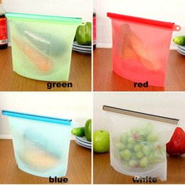 Discount eco friendly bags free - Reusable Silicone Food Preservation Bag Airtight Seal Food Storage Container Versatile Cooking Bag Free Shipping