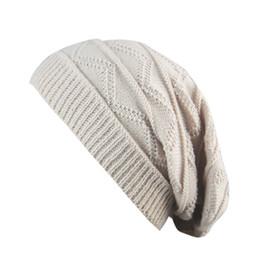 ba39437baa11 Men Women Winter Fluff Crochet Hat Wool Knit Beanie Warm Caps Striped  knitted wool hat cap outdoor warm bonnet femme
