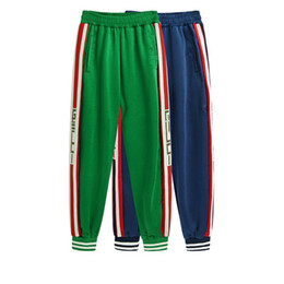 Velour clothing online shopping - new Preppy Love Legging Pants Letter embroidery silk with Side Striped Jogger Track Pants Legging Pants Elastic Waist Casual Jogger Clothing