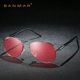 2774181244 Pilot Polarized Sunglasses Men Day Night Vision Driving Glasses Goggles  Women Yellow Green Pink Lens Anti-Glare Sun Glasses