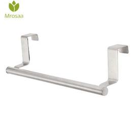 $enCountryForm.capitalKeyWord UK - Mrosaa 23cm Towel Bar Bathroom Kitchen Towel Rack Single Layer Over Door Cupboard Hanger Hotel Bath Stainless Steel Towel Holder