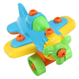 $enCountryForm.capitalKeyWord UK - New DIY Disassembling Small Plane Building Blocks Children Assembled Model Tool clamp With Screwdriver Educational Toys