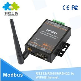 $enCountryForm.capitalKeyWord NZ - 2211 Industrial Modbus Serial RS485 RS422 to WiFi Ethernet Converter Device TCP IP Telnet 4M Flash DTU Connector