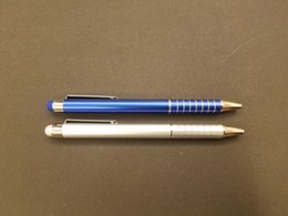 $enCountryForm.capitalKeyWord Australia - Aluminum barrel ballpen, colorful spray with chroming clip and tip. Stylus  screen touch on top, customize logo acceptable