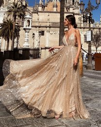 Train Works NZ - NDS822 Evening Dresses Real Photo Ball Gown Spaghetti Strap Illusion Hand Work Train Long Prom Evening Dress Deep V New