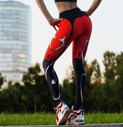 $enCountryForm.capitalKeyWord Canada - New hot red heart digital printing explosions sports yoga pants slim leggings