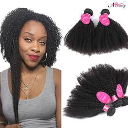 Afro Hair Extensions Bundles Australia - Unprocessed Malaysian Afro Kinky Curly Virgin Hair Bundles 3pcs Malaysian Curly Hair Extension Brazilain Peruvian Indian Virgin Hair