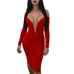 $enCountryForm.capitalKeyWord UK - Autumn explosions stitching sexy strapless long-sleeved sling in the long skirt Solid color hollow women's new