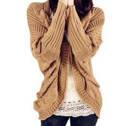 Autumn 2018 Winter loose sweater women short bat sleeve lazy wind thick  wool coat sweaters woman sweaters Cardigans 73a02b276
