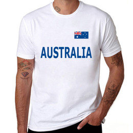 australia t shirt Canada - Summer T-Shirt Men 100% Pure Cotton Short Sleeve Australia Printed Fashion Casual Tops Brand Clothing
