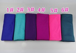 Jersey cotton scarf online shopping - 30 color High quality jersey elastic hijab plain shawls Polyester Cotton scarves scarf Islamic Muslim women wrap cm