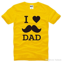 $enCountryForm.capitalKeyWord NZ - I LOVE DAD Printed T Shirts Men Summer Style Short Sleeve O-Neck Cotton Men's T Shirt Fashion Boys Kid Funny Top Tee Father Gift