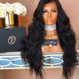 kinky cap wig NZ - Cheap fashionable 2018 7a grade 100% unprocessed raw virgin remy human hair long natural color kinky straight full lace cap wig for women
