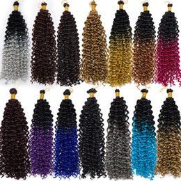 14inch Water Wave Ombre Crochet Braids Synthetic Braiding Hair jamaican bounce crochet hair afro kinky braids from dreadlocks weave hair manufacturers