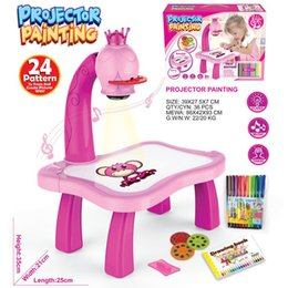 Projectors stands online shopping - Multi Function Drawing Projector Painting Desk Plastic Children Water Pens Treasures Tracer Art Projectors Pink Creative hl BB