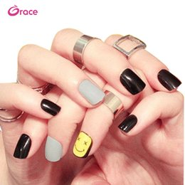 Nail Decorate Australia - B23 artifical false nail sticker press on false finger nail tips back adhesive decorated salon false nail