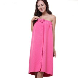 0da7188126 Towel Bow UK - HELLOYOUNG Sexy Women Microfiber Bath Towel Robe Bathrobe  Body Spa Bath Bow