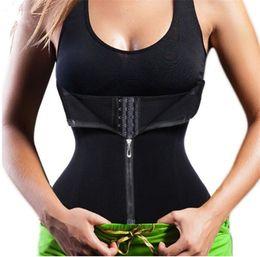 6305da2470c Bodysuit Women Slimming Zipper Waist Trainer Corsets Hot Shaper Body Shape  Belt Slimming Tummy Waist Cincher Tank Corrective Shapewear Slim
