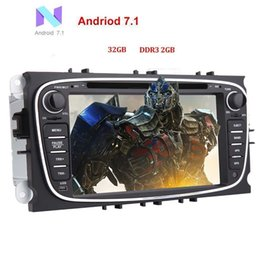 Ford Touch Screen Stereo NZ - EinCar 32GB+2GB Android 7.1 Double Din Car Stereo for Ford Focus Bluetooth Radio GPS in Dash Autoradio HeadUnit car DVD Player Fastboot