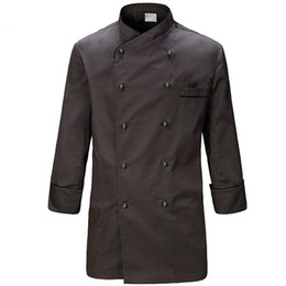 $enCountryForm.capitalKeyWord Canada - Gray Poly Cotton Long Sleeve Shirt Hotel Restaurant Professional Chef Uniform Bistro Diner Kitchen Catering Staff Work Wear B70