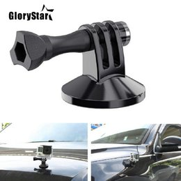 Tripod For Cars Australia - GloryStar For Gopro Camera Accessory Magnetic Car Suction Cup Tripod Mount Holder Action Camera Accessory