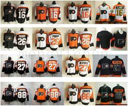 Old Style Philadelphia Flyers Hockey 16 Bobby Clarke Jersey Retro Black  Orange White 88 Eric Lindros 26 Brian Propp 27 Ron Hextall Jerseys 728eff7c6