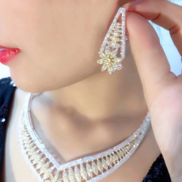 best bridal sets 2019 - Kindlegem Best Selling 2018 Silver Gold Color With CZ Stones Wedding Bridal Costume Indian Jewelry Sets For Women Party
