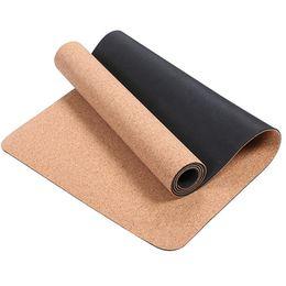 TPE + Mantar Yoga Spor Doğal Pilates Jimnastik Için Spor Paspaslar Paspaslar Yoga Egzersiz Pedleri Masaj