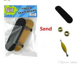 Finger Skateboard Mini Canada - Finger Skare Boarding ROCKDECK bearing round professional maple finger skateboard venue creative novelty mini toys birthday gift fingertips
