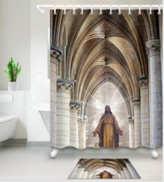 $enCountryForm.capitalKeyWord NZ - 3D resurrection god new style Design Print Pattern Irish Decorations Waterproof Bathroom Decor Fabric Shower Curtains Floor mats sets