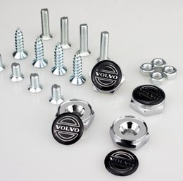 $enCountryForm.capitalKeyWord Canada - High Quality Auto Stainless steel Car License Plate Bolts Frame Chrome Screws Volvo for Volvo [More Logo avaialbel] Car accessories