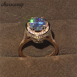$enCountryForm.capitalKeyWord NZ - choucong 2017 Brand Design Female ring 4ct Diamonique cz Rose Gold 925 Sterling silver Engagement Wedding Band Ring for women