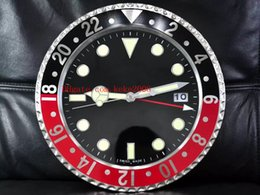 8 estilo de luxo de alta qualidade relógio relógio de parede 34cm x 5cm 3kg de aço inoxidável de quartzo eletrônico azul relógio luminescente em Promoção