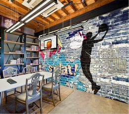 living shadow Australia - 3D photo Wallpaper Basketball Never Extinguish Graffiti Wall Shadow Mural Background Walls Living Room Bedroom wallpaper