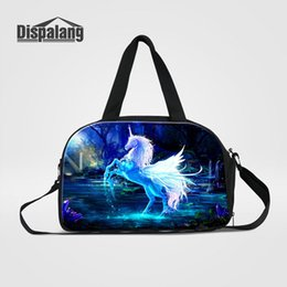bags wings Australia - Personalized Unicorn With Wing Travel Bags For Teenage Girls Multifuncional Duffle Bag For Students Women Traveling Weekend Sports Gym Bags