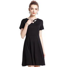 2018 Woman Black Dress Elegant Party Dresses Loose Maternity Dresses  Pregnancy Clothes Metal Silk Plus Size M-5XL O-Neck 096e9ddc6ae6