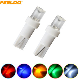 12v T5 Bulbs Canada - FEELDO 50PCS 5-Color T5 286 2721 Concave 1-LED Car Dashboard Wedge Base LED Lights Bulbs 12V #1025